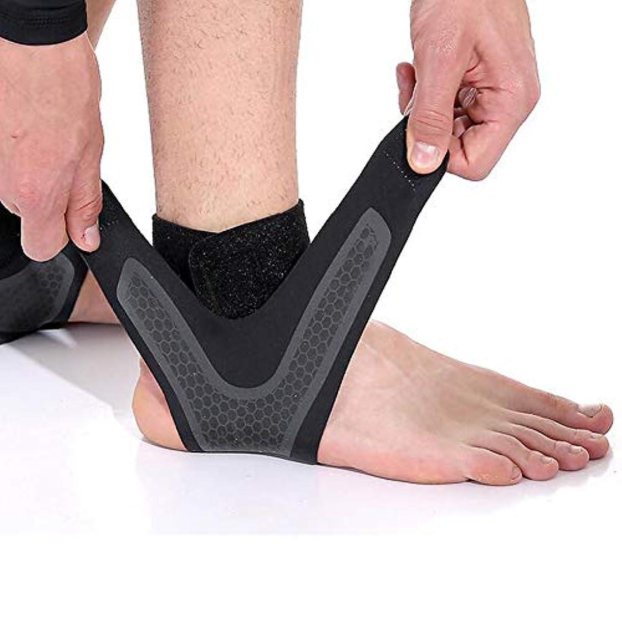 準備ができてあえてバンジョー足首スタビライザープロテクター圧縮調整可能な足首保護、サポート - 軽量で弾力性と 生地 - すべてのスポーツやジムに適しています。,M