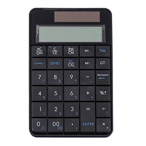 Iフォーカスワイヤレステンキー電卓機能付き、2in 1Solar Numpad 29キーforノートPCデスクトップPC Windows XP