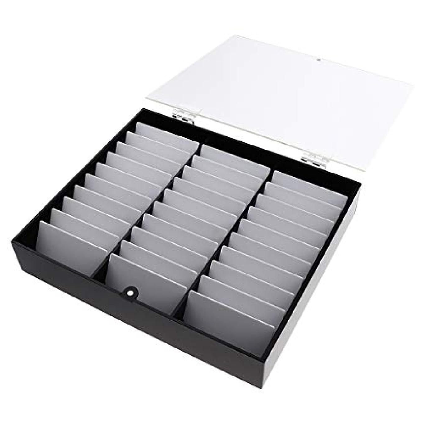 爵ホステス倒錯B Blesiya ネイルチップ収納ボックス ネイルディスプレイボックス 全2色 - 黒