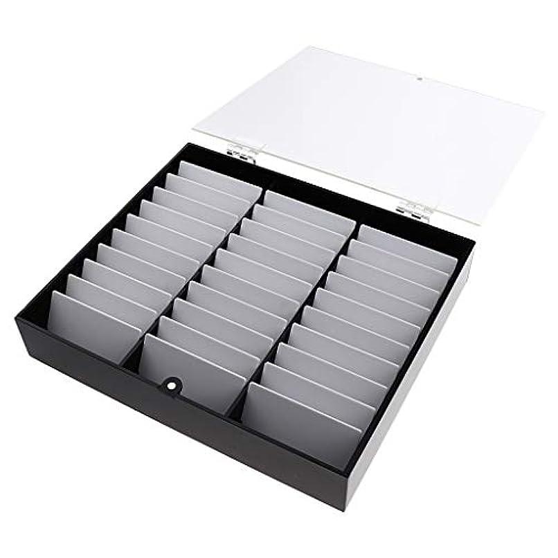 残忍な潜在的なキルスB Blesiya ネイルチップ収納ボックス ネイルディスプレイボックス 全2色 - 黒