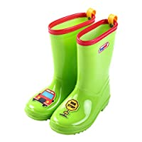 D.IIZOO 可愛いキッズ用レインブーツ 子供 子供用 長靴 ながぐつ  小学生 子ども用 雨靴 キッズ ジュニア 男の子 女の子 男女兼用 (【20】14.4cm, グリーン)