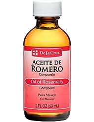 De La Cruz Aceiteデ?ロメロローズマリー油、2オンス