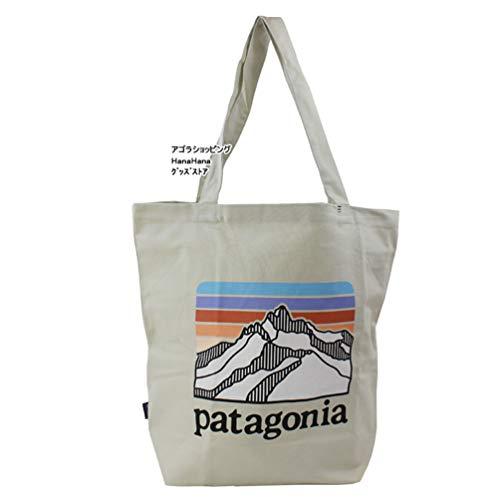 パタゴニア トート バッグ 59280 LRBS オーガニックコットン マーケットトート ORGANIC COTTON Line Logo Ridge: Bleached Stone Market Tote Patagonia [並行輸入品]
