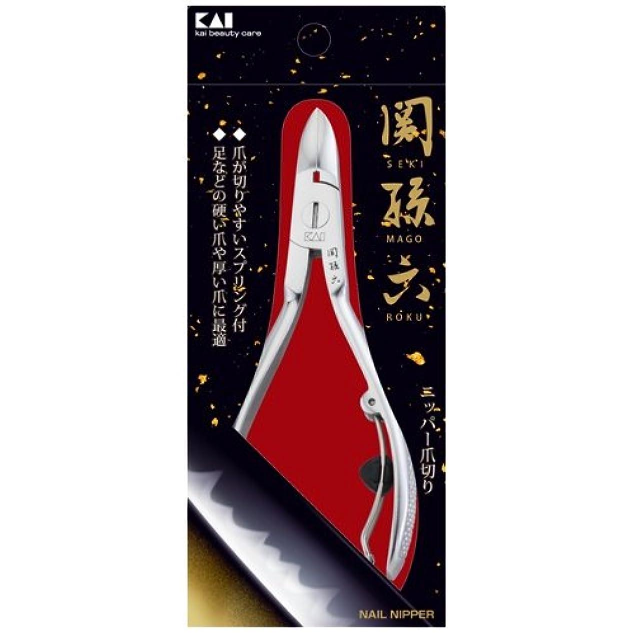 人差し指バンカー消費する関孫六 ニッパーツメキリ HC3504