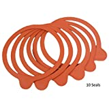 Weck 100mm Rubber Seals/Rings (Set of 10). Fits WECK Models 739 740 741 742 743 744 745 748. Red