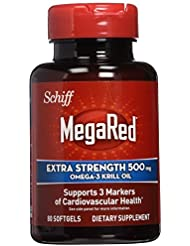 Schiff MegaRed Extra Strength Omega-3 Krill Oil 500 mg - 2 Bottles, 80 Softgels Each by Megared [並行輸入品]