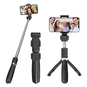 W-ingstar 自撮り棒 セルカ棒 Bluetooth 無線 三脚一脚兼用 リモコン付き 360度回転 伸縮可能 軽量 iPhone/Android対応