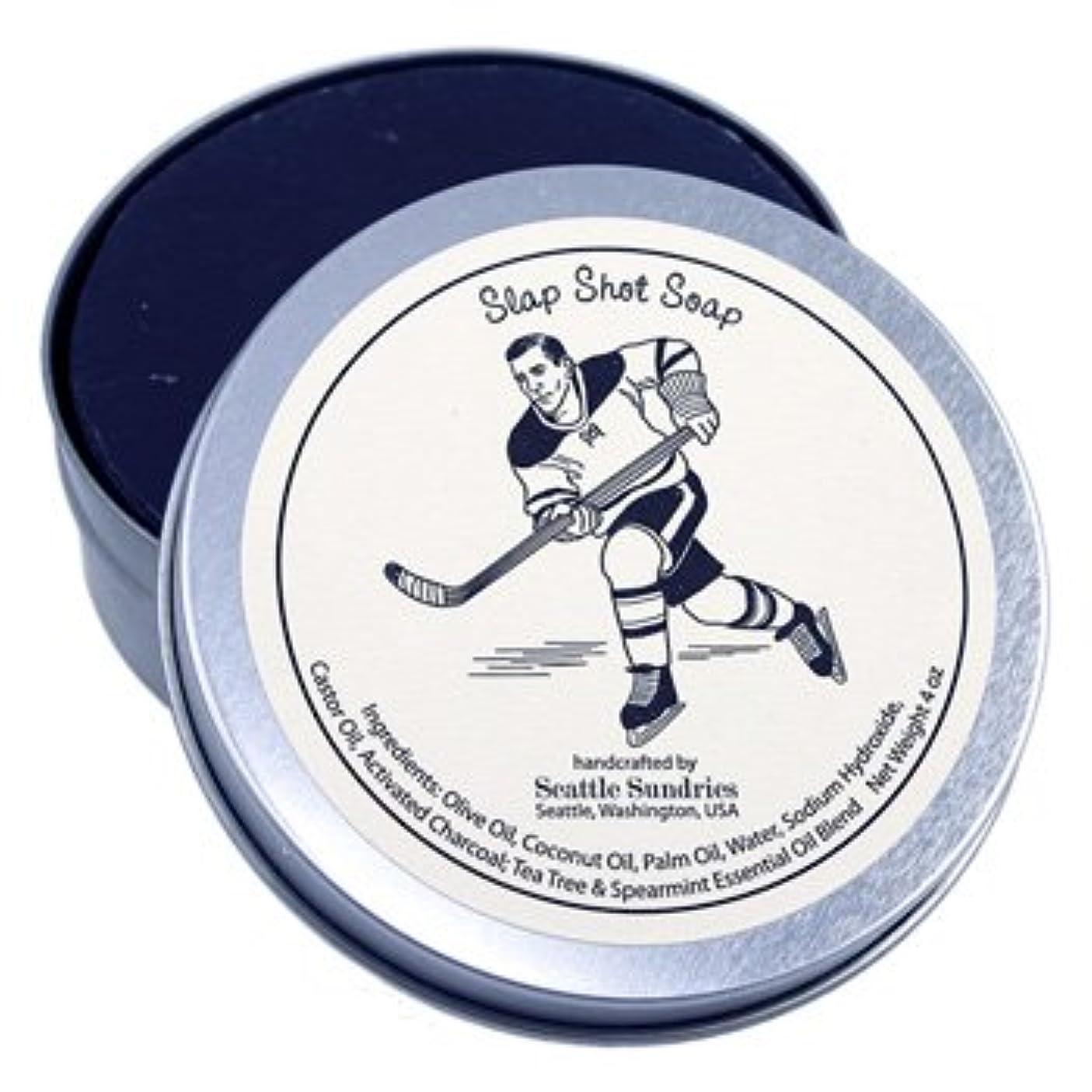 本質的ではないお茶窒素シアトル石鹸 Slap Shot / スラップショット Seattle Sundries社製