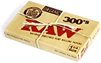 Raw Unrefined and Organic Rolling Paper, 1 1/4 (76 x 44mm) - 300 Paper by Raw