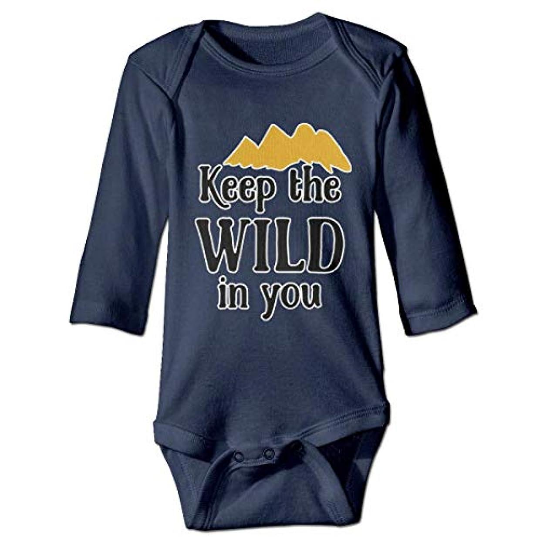 勝者住居セメント赤ちゃんのボディースーツで素敵なOnesie長袖衣装コスチューム、6 Mで野生を保つ