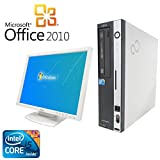 【Microsoft Office2010搭載】【Win7 搭載】【液晶セット】富士通 D750/A/新世代Core i5 3.2GHz/メモリ4GB/HDD160GB/DVDスーパーマルチ/中古デスクトップパソコン