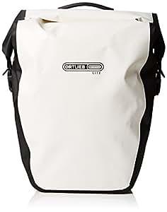 ORTLIEB(オルトリーブ) バックローラー シティ ホワイト/ブラック 40L(ペア) サイドバッグ 【並行輸入品】F5003