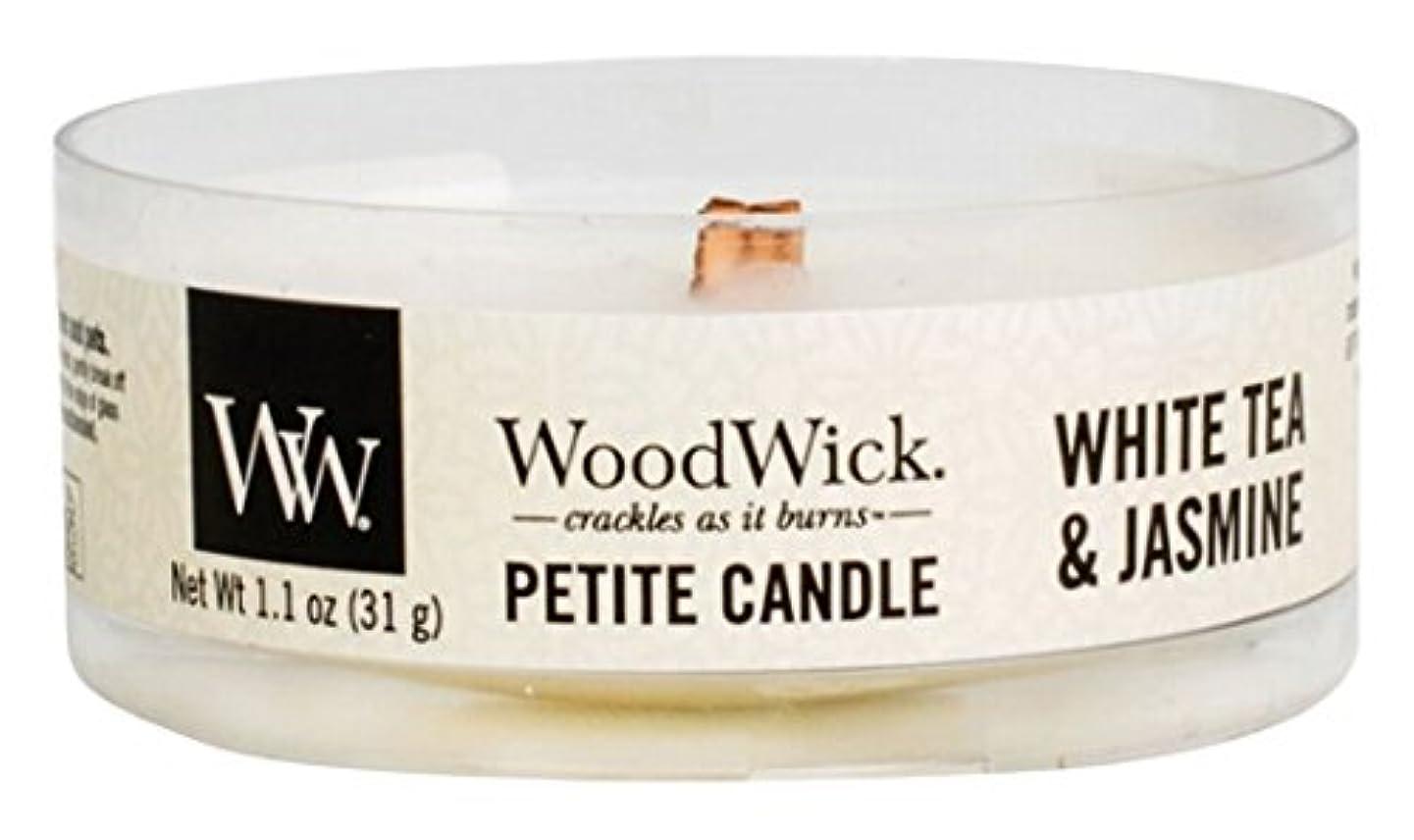不従順ずんぐりしたスイッチWood Wick ウッドウィック プチキャンドル ホワイトティージャスミン
