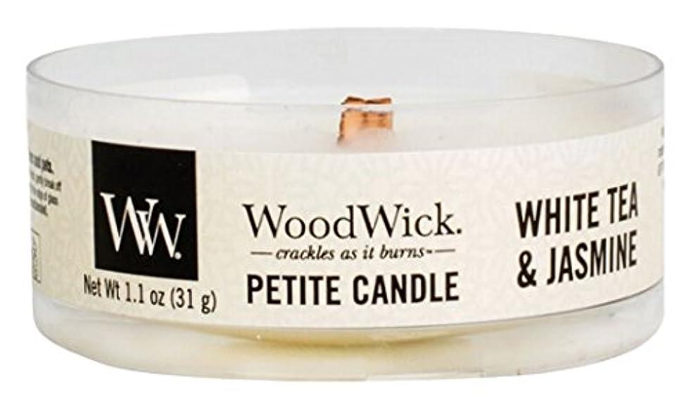 不愉快にせせらぎ神経障害Wood Wick ウッドウィック プチキャンドル ホワイトティージャスミン