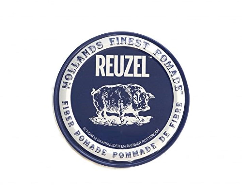 収縮シェード危険ルーゾー REUZEL ファイバーポマード ネイビー 113g