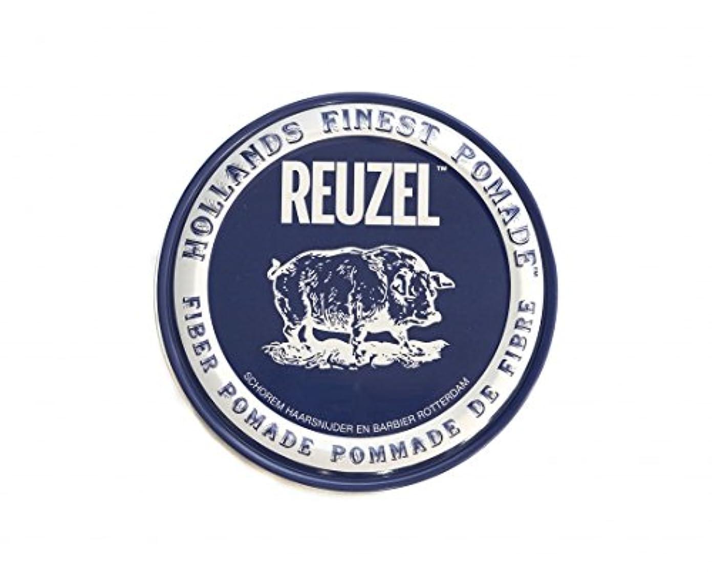 線形こどもセンター忠実なルーゾー REUZEL FIBER ファイバー ポマード ネイビー 340g