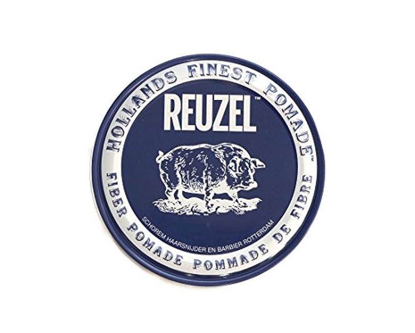 反映するフェザークラックポットルーゾー REUZEL ファイバーポマード ネイビー 113g
