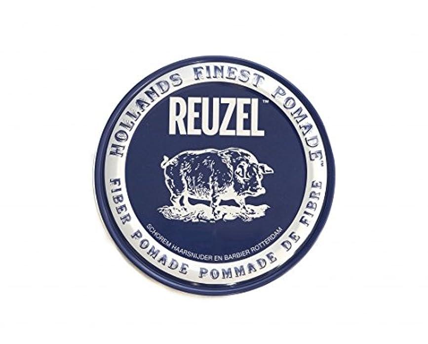 ラメ夜の動物園暗唱するルーゾー REUZEL ファイバーポマード ネイビー 113g