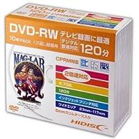 【まとめ 5セット】 HIDISC DVD-RW 録画用5mmスリムケース10P HDDRW12NCP10SC