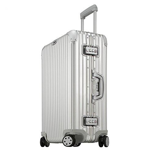 (リモワ) RIMOWA リモワ スーツケース RIMOWA 923.70.00.4 TOPAS トパーズ 74.5CM 82L 7~10泊用 4輪 TSAロック付 キャリーケース SILVER [並行輸入品]