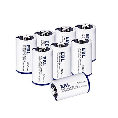 EBL リチウム電池CR2 800mAh 8本入り(保管ケー...