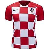 FRANCI Men's Croatia 2018 World Cup Home Blank Soccer Jersey.