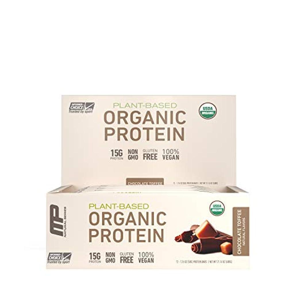 四分円論争的苛性MusclePharm Natural オーガニック?プロテインバー(チョコレート?トフィー12本) (600 g) 海外直送品
