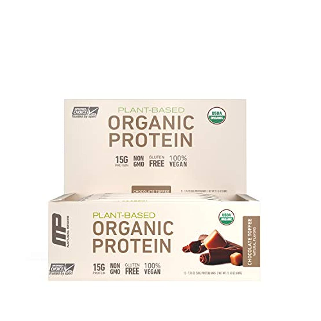 マージ谷残酷MusclePharm Natural オーガニック?プロテインバー(チョコレート?トフィー12本) (600 g) 海外直送品