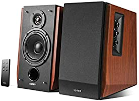 Edifier R1700BT Bluetooth Bookshelf Speakers - Active Near-Field Studio Monitors - Powered Speakers 2.0 Setup Wooden...