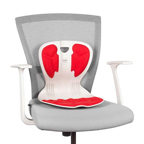 Curble Chair コブルチェア サポート, 姿勢を正しく矯正する脊椎リフティングサポートクッション - 着席></p> 腰をサポート> 尾てい骨の矯正 - IVORY RED