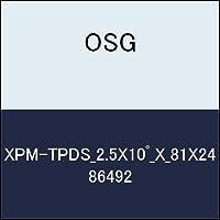 OSG テーパエンドミル XPM-TPDS_2.5X10゚_X_81X24 商品番号 86492
