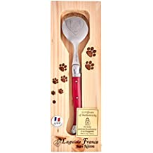 Laguiole Stainless Steel Pet Spoon for Cats Purple Food Serving - Purple