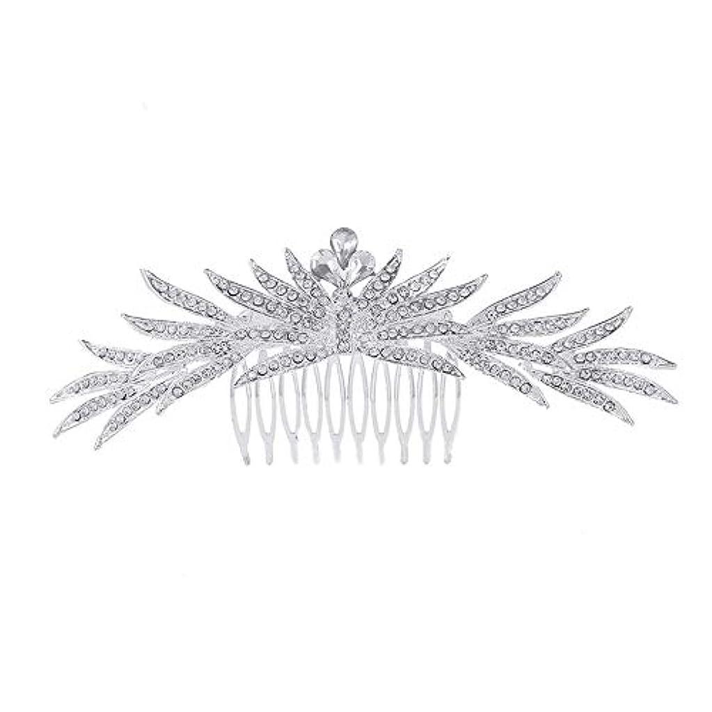 球状時刻表何よりも髪の櫛の櫛の櫛花嫁の髪の櫛ラインストーンの櫛亜鉛合金ブライダルヘッドドレス結婚式のアクセサリー挿入櫛