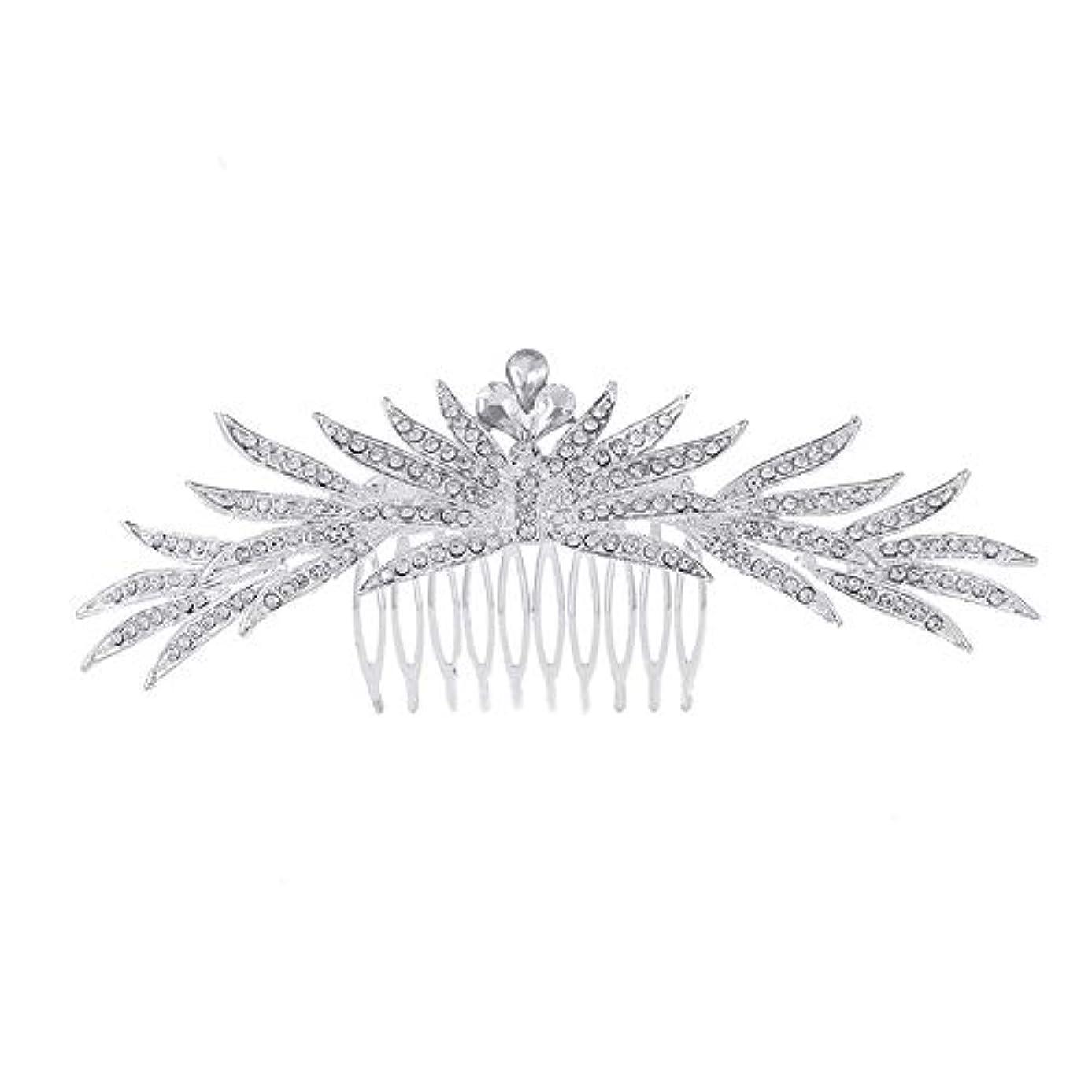 誓い拘束配管工髪の櫛の櫛の櫛花嫁の髪の櫛ラインストーンの櫛亜鉛合金ブライダルヘッドドレス結婚式のアクセサリー挿入櫛