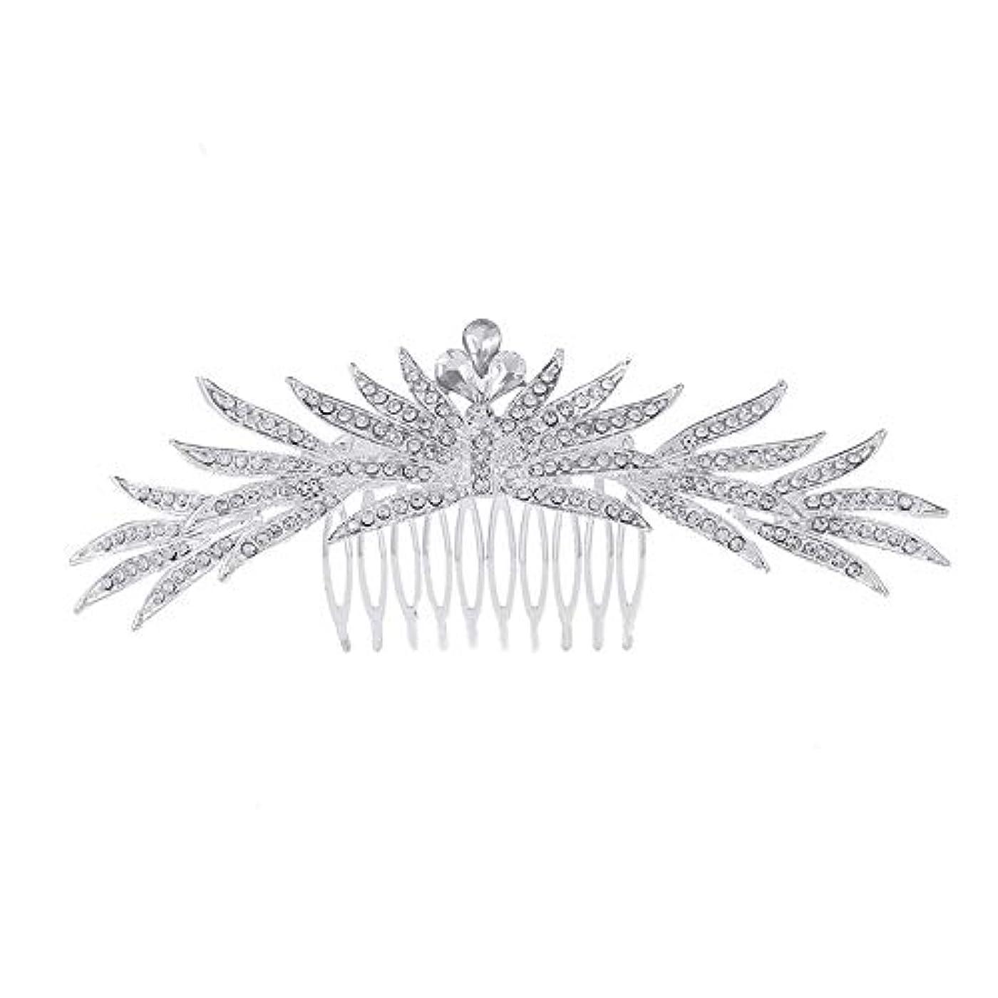 スキニー乳白さびた髪の櫛の櫛の櫛花嫁の髪の櫛ラインストーンの櫛亜鉛合金ブライダルヘッドドレス結婚式のアクセサリー挿入櫛