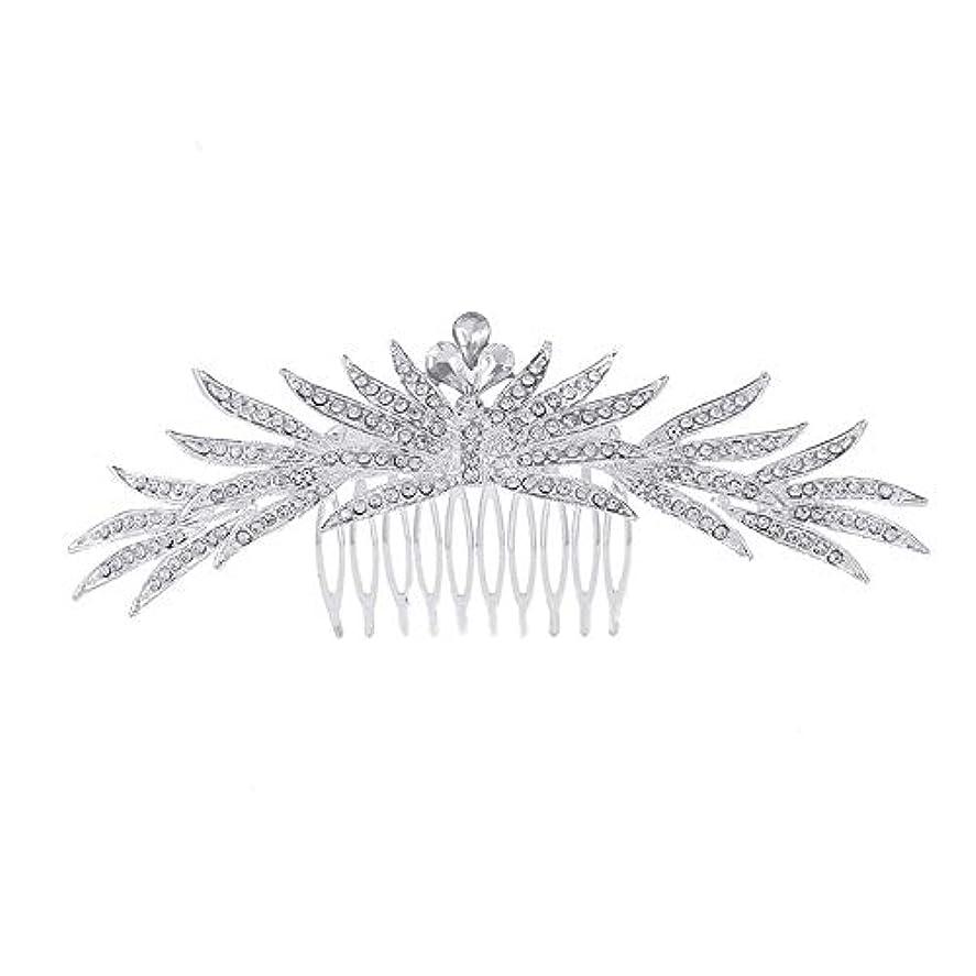 約ゆでる奇跡髪の櫛の櫛の櫛花嫁の髪の櫛ラインストーンの櫛亜鉛合金ブライダルヘッドドレス結婚式のアクセサリー挿入櫛