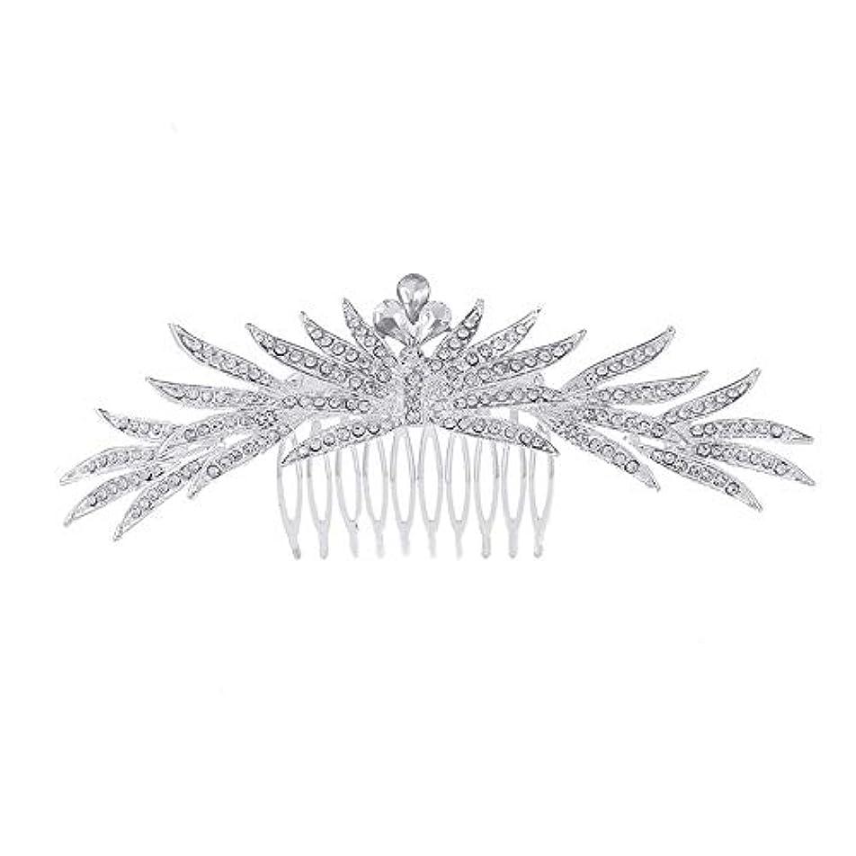 回復アドバンテージしなやかな髪の櫛の櫛の櫛花嫁の髪の櫛ラインストーンの櫛亜鉛合金ブライダルヘッドドレス結婚式のアクセサリー挿入櫛
