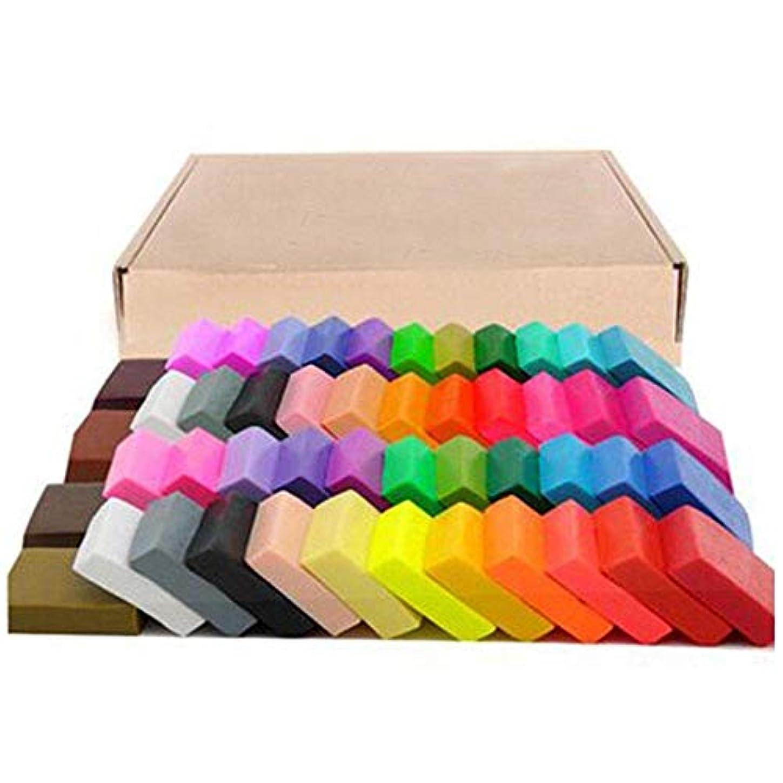 ACAMPTAR 50色ポリマー粘土、DIYのソフト成形工芸オーブンベーキング粘土ブロック、子供成人向けの誕生日プレゼント(50色、ボックス付き)