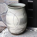 信楽焼 古陶白窯変傘立て しがらき焼 笠立て 陶器 おしゃれ kt-0202