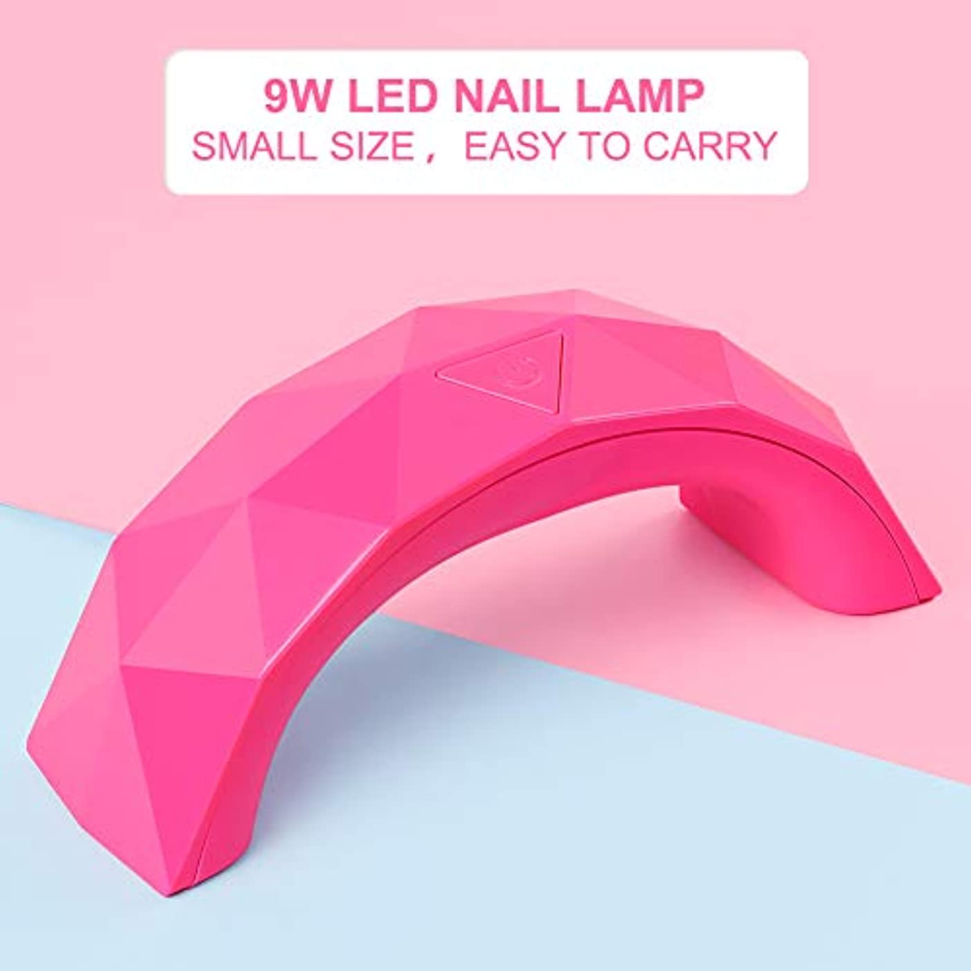 9W ピンク ネイルライト 硬化用UV/LEDライト ネイルドライヤー ネイル道具?ケアツール 硬化用ライト マニキュア ネイルアートツール