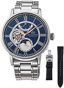 [オリエント時計] 腕時計 オリエントスター クラシック メカニカルムーンフェイズ MechanicalMoonphase 限定200本 レザーバンド付 RK-AM0011L メンズ