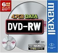 maxell DVD-RW(6X) 4.7GB [DRW47D1P]