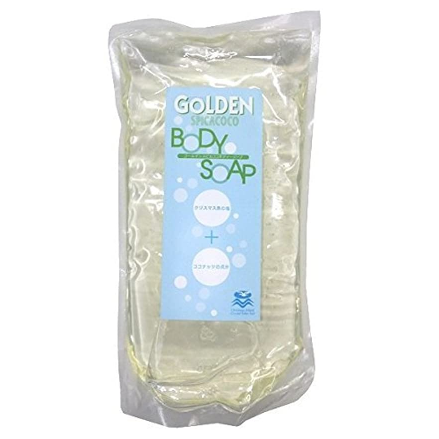キャンディー分析薬用ゴールデンスピカココ ボディーソープ詰替用<600ml> 5個