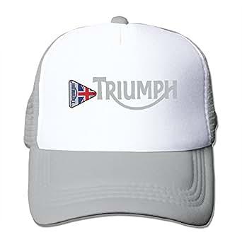 KY 男女兼用 大人着 今季最新 帽子 釣り グリッド帽 ソフト 日焼け止め 紫外線防止 大人気 トライアンフ・モーターサイクル 英字 ロゴプリント グレー