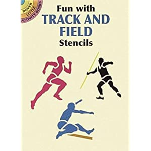 Fun with Track and Field Stencils (Dover Stencils)
