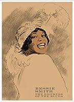ポスター クリフォード ファウスト ベッシー スミス 額装品 アルミ製ハイグレードフレーム(ホワイト)