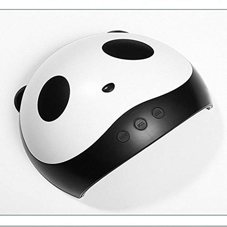わずらわしい方程式ペデスタルネイルライト ジェルネイルドライヤー 硬化用 ジェルネイルuv/ledライト36W新型 マニキュア用具 硬化用 USB接続12ライト 3種類時間設定 可愛い パンダ形