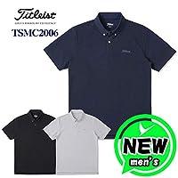 Titleist(タイトリスト) 半袖ボタンダウンポロシャツ TSMC2006 ライトグレー LLサイズ