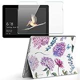 Surface go 専用スキンシール ガラスフィルム セット サーフェス go カバー ケース フィルム ステッカー アクセサリー 保護 アジサイ 花 梅雨 014760