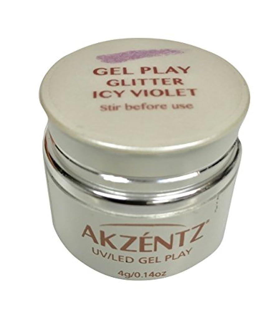内なる蛾陰気AKZENTZ(アクセンツ) UV/LED ジェルプレイ グリッター アイシーバイオレット 4g